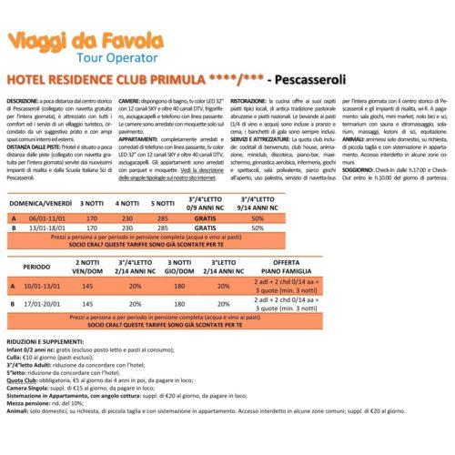 2019 OFFERTA Hotel Primula - Pescasseroli gennaio VDF